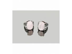 Anillo adaptable acero hipoalergénico cabujón cuarzo rosa