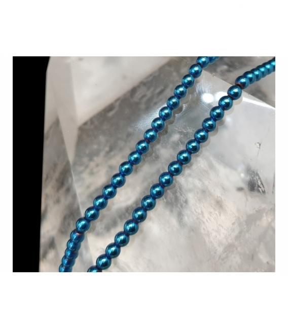 Hilo bola hematie color azul 3mm