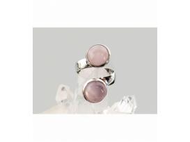 Anillo adaptable hipoalergénico cuarzo rosa