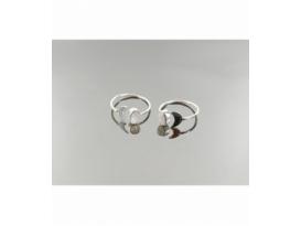 Anillo adaptable luna cabujón piedra luna plata