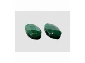 Cabujón ovalado tallado cuarzo verde