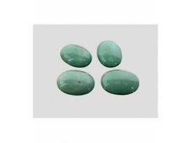 Cabujón ovalado cuarzo verde (2ud)
